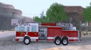 Pierce Aerials Platform. SFFD Ladder 15 для GTA San Andreas миниатюра 2