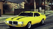 1969 Pontiac Firebird Trans Am Coupe (2337) для GTA San Andreas миниатюра 12
