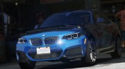 BMW M235i Coupe for GTA 5 miniature 5