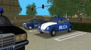 Volkswagen Beetle SFR Yugoslav Milicija (police) for GTA Vice City miniature 7