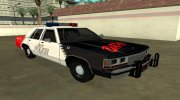 Ford LTD Crown Victoria 1991 Copley Police DARE black, white and red for GTA San Andreas miniature 2