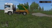 MAN skip truck with container (v1.0 Pummelboer) for Farming Simulator 2017 miniature 12