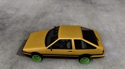 Toyota Corolla Carib AE86 for GTA San Andreas miniature 2