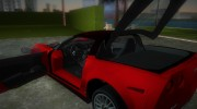 Chevrolet Corvette ZR1 Black Revel for GTA Vice City miniature 7