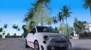 Fiat 500 Abarth 2008 for GTA San Andreas miniature 2