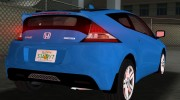 Honda CR-Z 2010 for GTA Vice City miniature 6