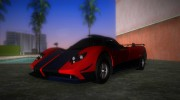 Pagani Zonda Cinque for GTA Vice City miniature 1