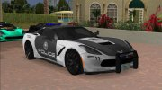Chevrolet Corvette C7 Police for GTA Vice City miniature 4