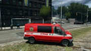 Ford Transit Polish Firetruck for GTA 4 miniature 5