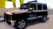 Mercedes-Benz G65 AMG BIH Police Car для GTA San Andreas миниатюра 2