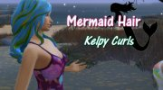 Kelpy Curls Mermaid Hair for Sims 4 miniature 1