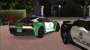Chevrolet Corvette C7 Police for GTA Vice City miniature 5