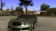 Bentley Continental GT Premier4509 2008 Final для GTA San Andreas миниатюра 1