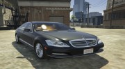 Mercedes-Benz S600 2009 for GTA 5 miniature 4