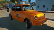 Abarth Zastava 850 General Lee for GTA San Andreas miniature 2