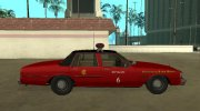 Chevrolet Caprice 1987 Chicago Fire Dept for GTA San Andreas miniature 6