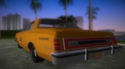 Ford Custom 500 (4-door) 1975 Taxi for GTA Vice City miniature 4