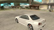 Nissan Skyline R34 VeilSide for GTA San Andreas miniature 3