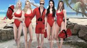 DSF Swimwear Lifeguard for Sims 4 miniature 1