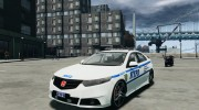 Honda Accord Type R NYPD (City Patrol 1090) для GTA 4 миниатюра 1
