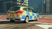 2015 Police Ford Focus ST Estate for GTA 5 miniature 3