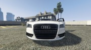 2013 Audi S8 4.0 TFSI Quattro v1.7 for GTA 5 miniature 15