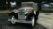 Ford Model A Pickup 1930 for GTA 4 miniature 1