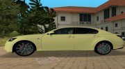 2013 Lexus GS 350 F Sport for GTA Vice City miniature 4
