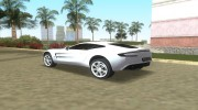Aston Martin One 77 для GTA Vice City миниатюра 3