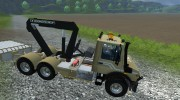 Mercedes-Benz Unimog crane devices Trailer for Farming Simulator 2013 miniature 9