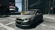 Chevrolet Aveo LT 2009 for GTA 4 miniature 1
