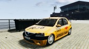 Dacia Logan Prestige Taxi for GTA 4 miniature 1