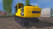 Komatsu PC 210 LC для Farming Simulator 2015 миниатюра 4