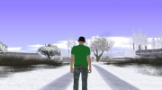 Skin GTA Online в футболке Thank God for GTA San Andreas miniature 5