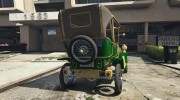 Ford T 1910 Passenger Open Touring Car for GTA 5 miniature 6