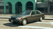 Mercedes-Benz S600 (W140) for GTA 5 miniature 1