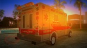 Ford Econoline 1986 Ambulance for GTA Vice City miniature 3