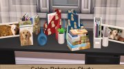 Golden Retriever Study Accessories Collection for Sims 4 miniature 1