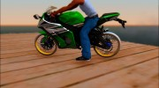 Kawasaki ZX10 R R17 for GTA San Andreas miniature 3