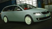 Skoda Octavia Civil for GTA 5 miniature 3