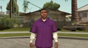 Franklin Violet Shirt for GTA San Andreas miniature 1