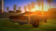 Dodge Charger 1967 for GTA Vice City miniature 3