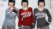 Winter Pullover for Sims 4 miniature 1