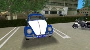 Volkswagen Beetle SFR Yugoslav Milicija (police) for GTA Vice City miniature 4