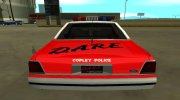 Ford LTD Crown Victoria 1991 Copley Police DARE black, white and red for GTA San Andreas miniature 7