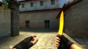 Gold Knife для Counter-Strike Source миниатюра 1