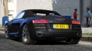 Audi R8 Spyder for GTA 5 miniature 3