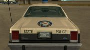 Ford LTD Crown Victoria 1987 Florida Highway Patrol for GTA San Andreas miniature 7