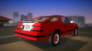 Dodge Daytona Turbo CZ 1986 for GTA Vice City miniature 3