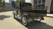 Ford A Pick-up 1930 for GTA 5 miniature 4